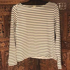 Jcrew striped long sleeve cotton top. Size M